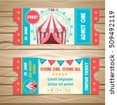 event tickets for magic show in ... | Shutterstock .eps vector #509492119