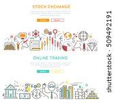 stock market horizontal linear...   Shutterstock .eps vector #509492191