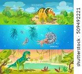 Animals Jurassic Banners Set...