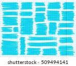 marker scribbles vector. big... | Shutterstock .eps vector #509494141