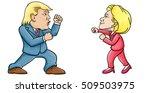 november 4  2016  caricature... | Shutterstock .eps vector #509503975