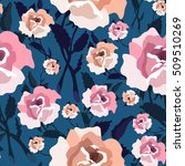 seamless pattern with roses.... | Shutterstock .eps vector #509510269