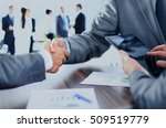 business people shaking hands | Shutterstock . vector #509519779