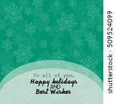 christmas card with snowflakes | Shutterstock .eps vector #509524099