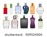 set of perfume bottle isolated... | Shutterstock . vector #509524504