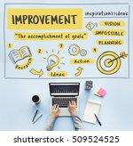 development achievement... | Shutterstock . vector #509524525