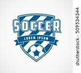 soccer emblem blue flat icon on ... | Shutterstock .eps vector #509534344