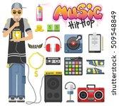 rap hip hop singing breakdance... | Shutterstock .eps vector #509548849