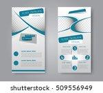 skinny flyer or leaflet design. ... | Shutterstock .eps vector #509556949