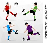 soccer players silhouettes of... | Shutterstock .eps vector #509561599