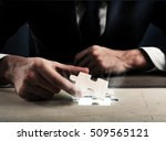 complete a puzzle | Shutterstock . vector #509565121
