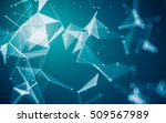 abstract polygonal space low... | Shutterstock . vector #509567989