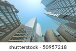 blue sky daylight in a big city ... | Shutterstock . vector #50957218