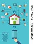 smart home. flat design style...   Shutterstock .eps vector #509577931