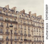 vintage parisian buildings | Shutterstock . vector #509580889