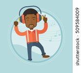 an african american man dancing ... | Shutterstock .eps vector #509584009