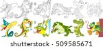 cartoon animal set. collection... | Shutterstock .eps vector #509585671