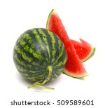big red watermelon isolated on... | Shutterstock . vector #509589601