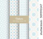 vector pattern set for package  ... | Shutterstock .eps vector #509593147