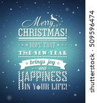 poster with greetings merry... | Shutterstock .eps vector #509596474