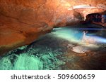 a water pool in river cave at... | Shutterstock . vector #509600659