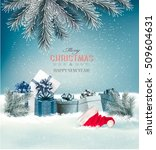 holiday christmas background... | Shutterstock .eps vector #509604631