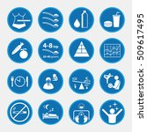 icon set of obesity and health