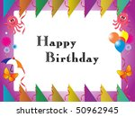 happy birthday kid background | Shutterstock .eps vector #50962945