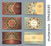 set vintage business card with... | Shutterstock .eps vector #509630185