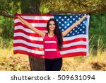 beautiful model poses with the... | Shutterstock . vector #509631094