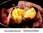 japanese roasted sweet potato  | Shutterstock . vector #509632984