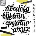 vector handwritten brush script.... | Shutterstock .eps vector #509632999