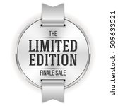 white limited edition badge ... | Shutterstock .eps vector #509633521