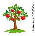 stylized apple tree. eps8... | Shutterstock .eps vector #50963866