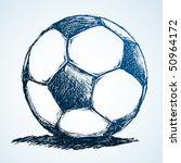 soccer ball ink sketch | Shutterstock .eps vector #50964172