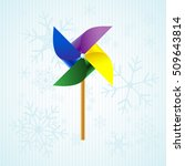 toy wind mill  weather vane  ... | Shutterstock .eps vector #509643814