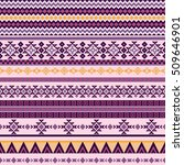 ethnic seamless pattern with... | Shutterstock .eps vector #509646901