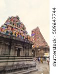 blur background of temple in... | Shutterstock . vector #509647744