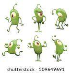 vector set of cartoon images of ... | Shutterstock .eps vector #509649691