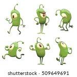 vector set of cartoon images of ... | Shutterstock .eps vector #509649691