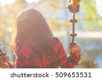 children playing in the swing... | Shutterstock . vector #509653531