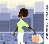 dark skinned woman shopping in... | Shutterstock . vector #509654839