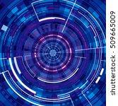 technology virtual background.   Shutterstock . vector #509665009