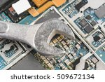 mobile phone chip with silver... | Shutterstock . vector #509672134