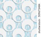seamless origami pattern. 3d... | Shutterstock .eps vector #509673484