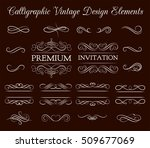 vintage ornate frames ... | Shutterstock .eps vector #509677069