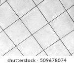 tiled floor black and white... | Shutterstock . vector #509678074