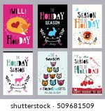 creative holiday cards ... | Shutterstock .eps vector #509681509