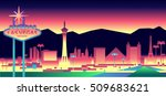 Stock vector las vegas skyline 509683621