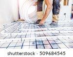 pipe fitter mounted underfloor... | Shutterstock . vector #509684545